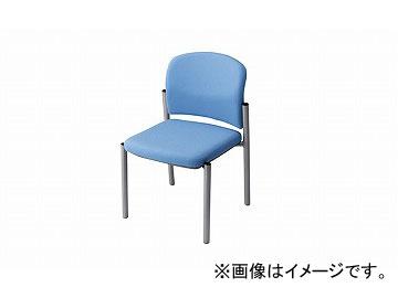 ナイキ/NAIKI 会議用チェアー ライトブルー E248F-LBL 510×535×775mm
