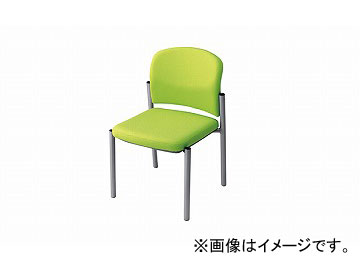 ナイキ/NAIKI 会議用チェアー マスカットグリーン E248F-MGR 510×535×775mm