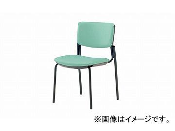 ナイキ/NAIKI ネオス/NEOS 会議用チェアー 4本脚タイプ ライトグリーン E217B-LGR 485×545×765mm