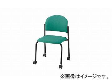 ナイキ/NAIKI 会議用チェアー 4本脚タイプ/キャスター付 ライトグリーン E163FBC-LGR 519×530×780mm