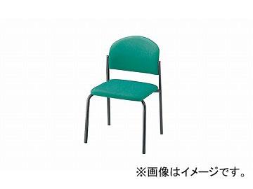 ナイキ/NAIKI 会議用チェアー 4本脚/塗装タイプ ライトグリーン E163FB-LGR 498×530×780mm