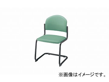 ナイキ/NAIKI 会議用チェアー キャンチレバー脚/塗装タイプ ライトグリーン E165B-LGR 498×530×780mm