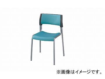 ナイキ/NAIKI 会議用チェアー 4本脚タイプ ライトグリーン E151F-LGR 506×500×770mm