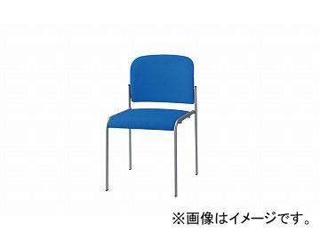ナイキ/NAIKI 会議用チェアー 4本脚タイプ ブルー E253F-BL 458×546×760mm