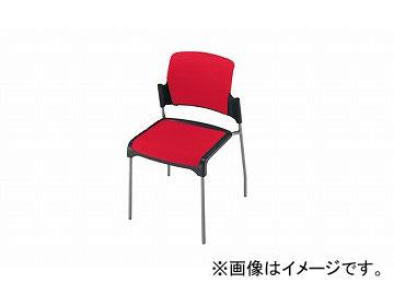 ナイキ/NAIKI 会議用チェアー 4本脚タイプ レッド E243-RE 530×520×800mm