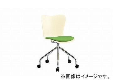 ナイキ/NAIKI 会議用チェアー 5本脚タイプ/キャスター付 グリーン E228FN-GR 595×545×780mm