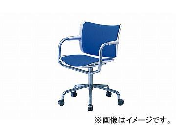 ナイキ/NAIKI 会議用チェアー 5本脚タイプ ブルー E262F-BL 595×540×763mm