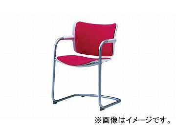 ナイキ/NAIKI 会議用チェアー キャンチレバー脚タイプ レッド E263F-RE 550×540×763mm