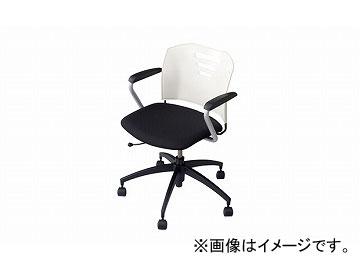 ディスカウント レビューを書けば送料当店負担 送料無料 ナイキ NAIKI 会議用チェアー E258F-WH 644×630×748mm ホワイト