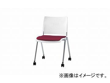ナイキ/NAIKI 会議用チェアー 4本脚タイプ/キャスター付 ワイン E213FCN-WI 530×560×762mm