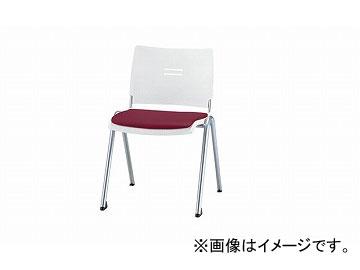ナイキ/NAIKI 会議用チェアー 4本脚タイプ ワイン E213FN-WI 510×565×762mm