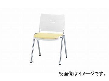 ナイキ/NAIKI 会議用チェアー 4本脚タイプ アイボリー E213FN-IV 510×565×762mm