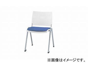 ナイキ/NAIKI 会議用チェアー 4本脚タイプ ライトブルー E213FN-LBL 510×565×762mm