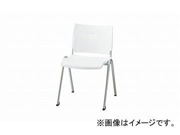 ナイキ/NAIKI 会議用チェアー 4本脚タイプ ホワイト E213-WH 510×565×762mm