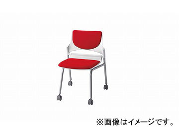 ナイキ/NAIKI 会議用チェアー レッド E274-2F-RE 544×575×760mm