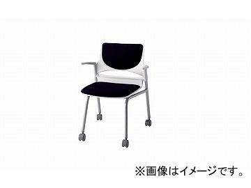 ナイキ/NAIKI 会議用チェアー 肘掛付 ブラック E275-2F-BK 585×575×760mm