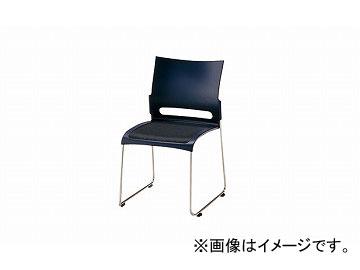 ナイキ/NAIKI 会議用チェアー ステンレスタイプ ブルー E225S-BL 505×545×800mm