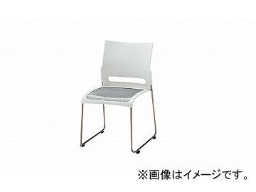 ナイキ/NAIKI 会議用チェアー ステンレスタイプ ホワイト E225S-WH 505×545×800mm