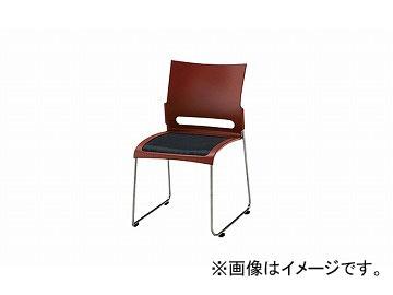 ナイキ/NAIKI 会議用チェアー ステンレスタイプ ブラウン E225S-BR 505×545×800mm