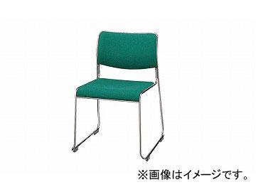 ナイキ/NAIKI 会議用チェアー ループ脚/ステンレスタイプ ライトグリーン E854F-LGR 500×520×755mm