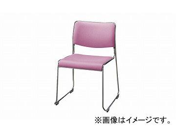 ナイキ/NAIKI 会議用チェアー ループ脚/ステンレスタイプ ピンク E854-PI 495×500×750mm