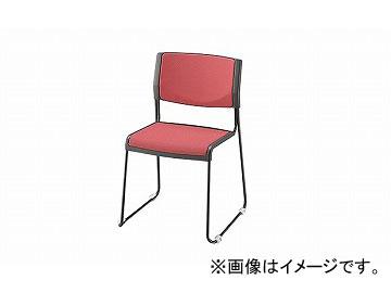 ナイキ/NAIKI 会議用チェアー ループ脚/塗装タイプ ピンク E147F-PI 514×510×765mm
