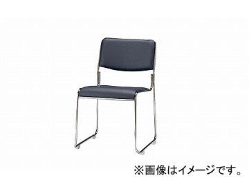 ナイキ/NAIKI 会議用チェアー ループ脚/メッキタイプ ダークグレー E177M-DGL 495×540×750mm