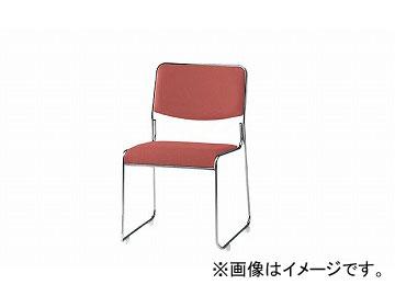 ナイキ/NAIKI 会議用チェアー ループ脚/メッキタイプ ローズピンク E177M-RPI 495×540×750mm