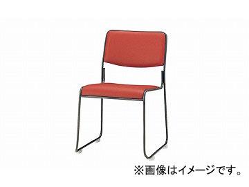 ナイキ/NAIKI 会議用チェアー ループ脚/塗装タイプ ローズピンク E177B-RPI 495×540×750mm