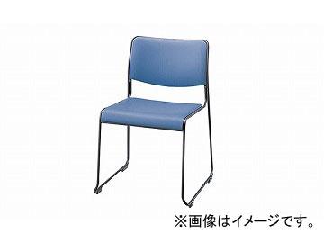 ナイキ/NAIKI 会議用チェアー ループ脚/塗装タイプ ライトブルー E150FB-LBL 500×520×755mm