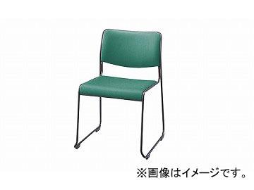 ナイキ/NAIKI 会議用チェアー ループ脚/塗装タイプ ライトグリーン E150FB-LGR 500×520×755mm