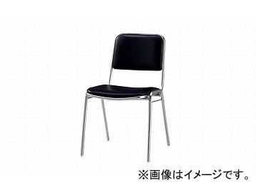 ナイキ/NAIKI 会議用チェアー 4本脚タイプ ブラック E156-BK 450×550×775mm