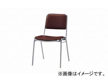 ナイキ/NAIKI 会議用チェアー 4本脚タイプ ブラウン E156-BR 450×550×775mm