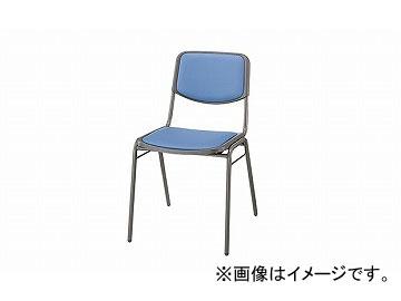 ナイキ/NAIKI 会議用チェアー 4本脚タイプ ライトブルー E100-LBL 450×524×750mm