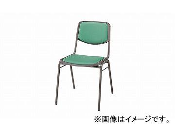 ナイキ/NAIKI 会議用チェアー 4本脚タイプ ライトグリーン E100-LGR 450×524×750mm