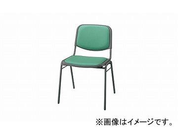 ナイキ/NAIKI 会議用チェアー 座面ワイドタイプ ライトグリーン E101-LGR 500×530×750mm