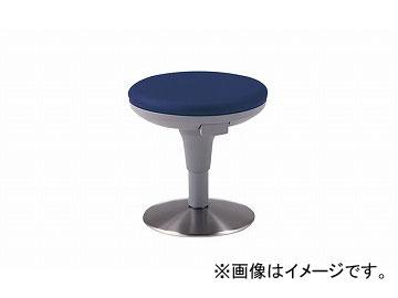 ナイキ/NAIKI 丸イス ビニールレザー ダークブルー E719-DBL 400×400×400~490mm