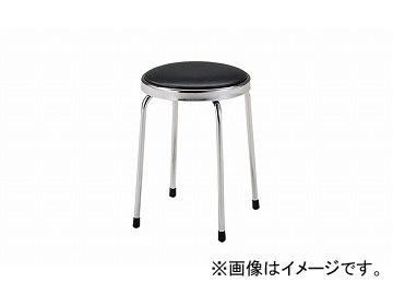 ナイキ/NAIKI 丸イス 座回転式 ブラック E110-BK 450×450×460mm
