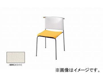 ナイキ/NAIKI リフレッシュ用チェアー 4本脚タイプ ホワイト E282-WH 490×510×735mm