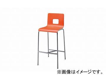 ナイキ/NAIKI カウンターチェアー ループ脚タイプ オレンジ E281-1-OR 431×495×980mm