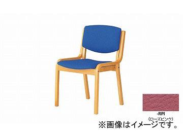 ナイキ/NAIKI 会議用チェアー 高齢者福祉施設用 4本脚タイプ ローズピンク E204-RPI 530×510×790mm