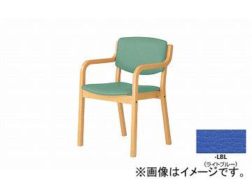 ナイキ/NAIKI 会議用チェアー 高齢者福祉施設用 4本脚タイプ ライトブルー E205-LBL 530×510×790mm