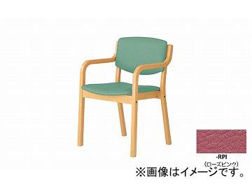 ナイキ/NAIKI 会議用チェアー 高齢者福祉施設用 4本脚タイプ ローズピンク E205-RPI 530×510×790mm