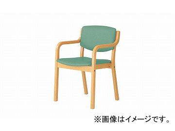 ナイキ/NAIKI 会議用チェアー 高齢者福祉施設用 4本脚タイプ ライトグリーン E205-LGR 530×510×790mm