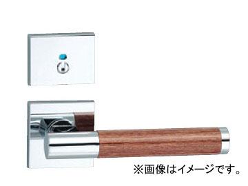 川口技研/KAWAGUCHI 81SQ 角座クローム+レディッシュブラウン 表示錠 Pタイプ(角サムターン座) LVS-81R-4PSQ-Cr