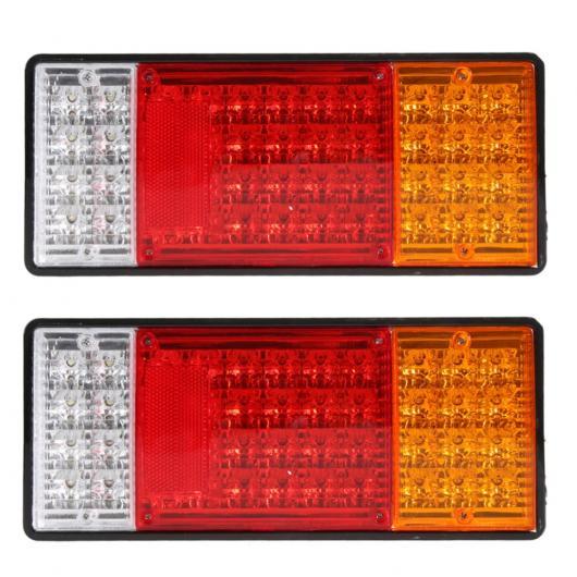 AL 車用メッキパーツ 2ピースHM-022 カー リア ランプ トラック ボート トレーラー プラスチックテールライト44 LED 12ボルト防水 テールライト ワーニング ライトME3L AL-AA-0910