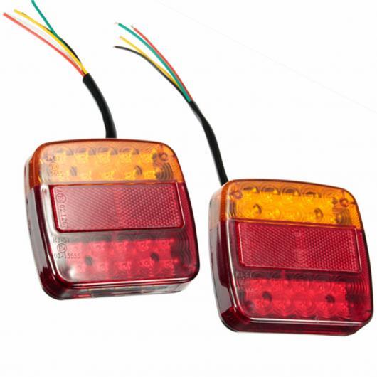 AL 車用メッキパーツ 1ペア カー 12ボルト20LED トレーラー テールライト左と右テールライト トラック バン ランプ AL-AA-0919
