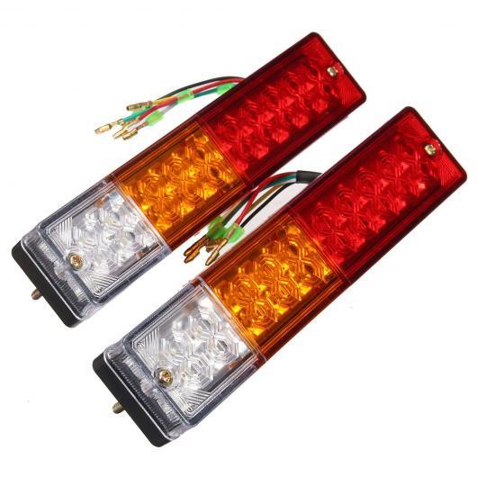 AL 車用メッキパーツ 2X LED ストップリアテールブレーキ リバース ライトターンINDIACTOR 12ボルト ボート ATV トラック トレーラー ランプ AL-AA-0920