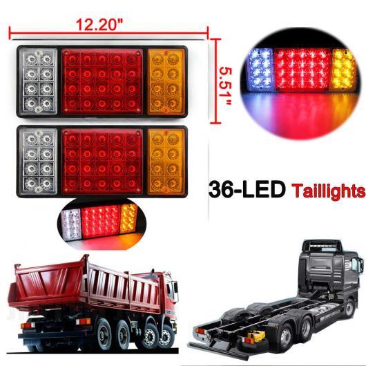 AL 車用メッキパーツ トラック トレーラー テールライトストップリアターンインジケータ リバース ランプ防水 LED X2 AL-AA-0927