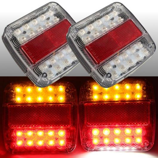AL 車用メッキパーツ 2 × 46 LED カー トラック テールライト ワーニング ライトリア ランプ 防水 リアTURNNINGライセンスプレートライト トレーラー TR AL-AA-0949